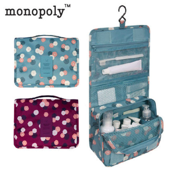 monopoly★トイレタリーポーチ TOILETRY POUCH  (花柄)