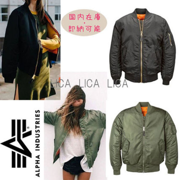 国内即発ALPHA INDUSTRIESモデル多数愛用MA-1 W FLIGHT JACKET