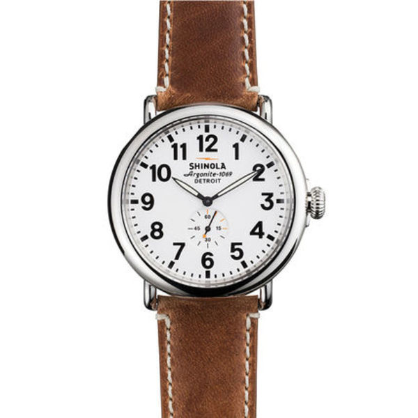 【SHINOLA】メンズウォッチ Runwell White & Brown 47mm