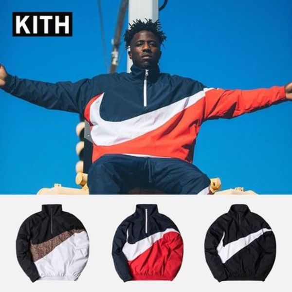 入手困難アイテム KITH x Nike Big Swoosh Quarter Zip