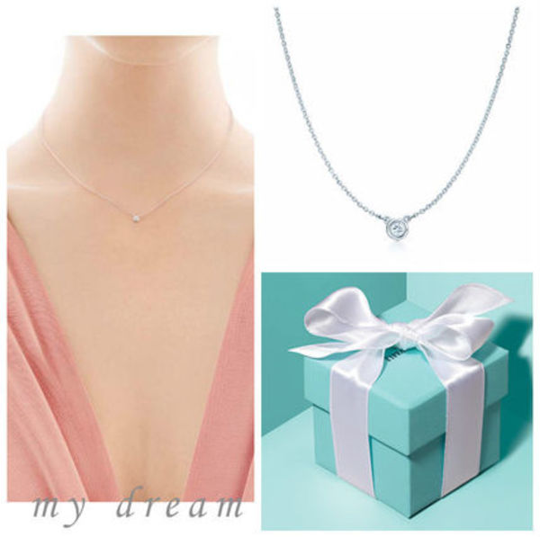 【Tiffany & Co】Elsa's By The Yard Pendant in silver .03ct