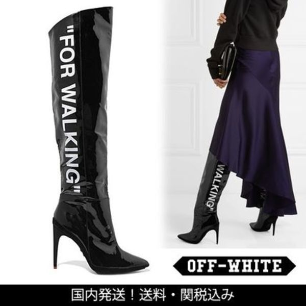 【2017FW】Off-White FOR WALKING パテント レザーブーツ