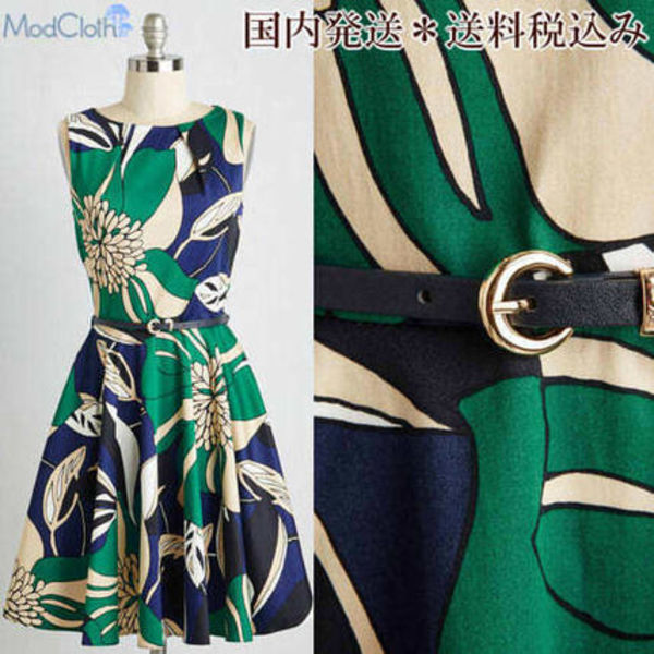 modcloth★大人気!フラワーワンピース★Luck Be a Lady Dress