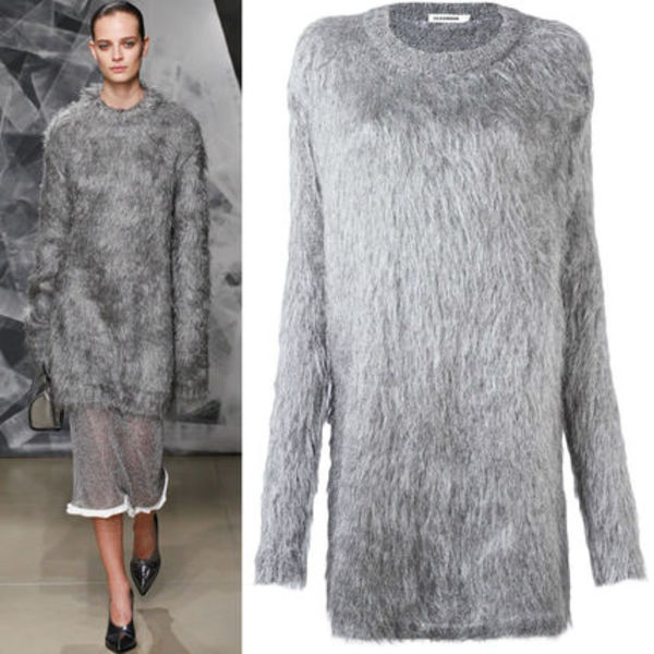 16-17AW JS011 LOOK17 HAIRY LONG SWEATER