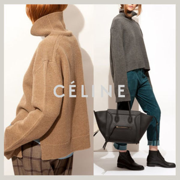 【国内発送】CELINEセリーヌ☆hi-neck structured wool sweater