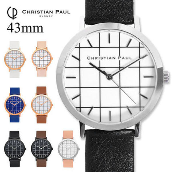 ◆CHRISTIAN PAUL グリッド GR 43mm 格子 Grid Collection