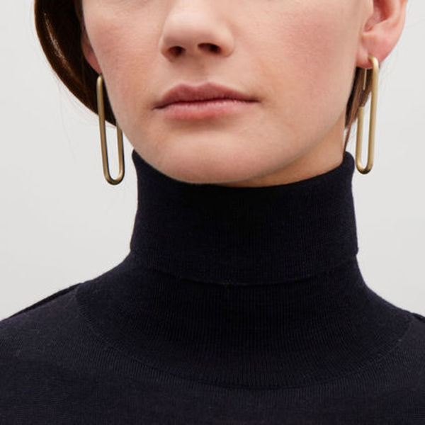 COS☆CHUNKY METAL EARRINGS / gold