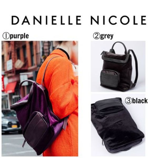 【DANIELLE NICOLE】●大人気●JADE VELVET BACKPACK