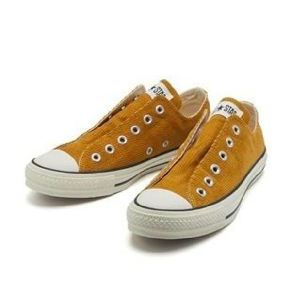 国内正規品:CONVERSE ALL STAR CORDUROY SLIP OX 32862589 CAMEL