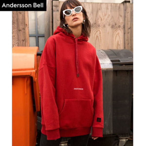 ANDERSSON BELL正規品★アーチスローガンAパッチパーカーUNISEX