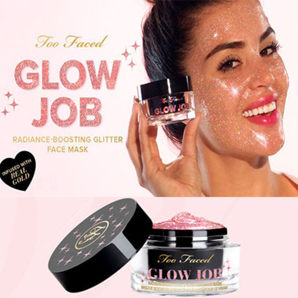 Glow Job RADIANCE-BOOSTING GLITTER FACE MASK ゴールド入り!