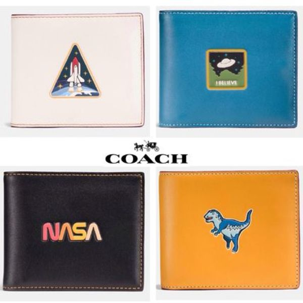 COACHxNASA 折り財布 3-In-1 Wallet In Glovetanned Leather