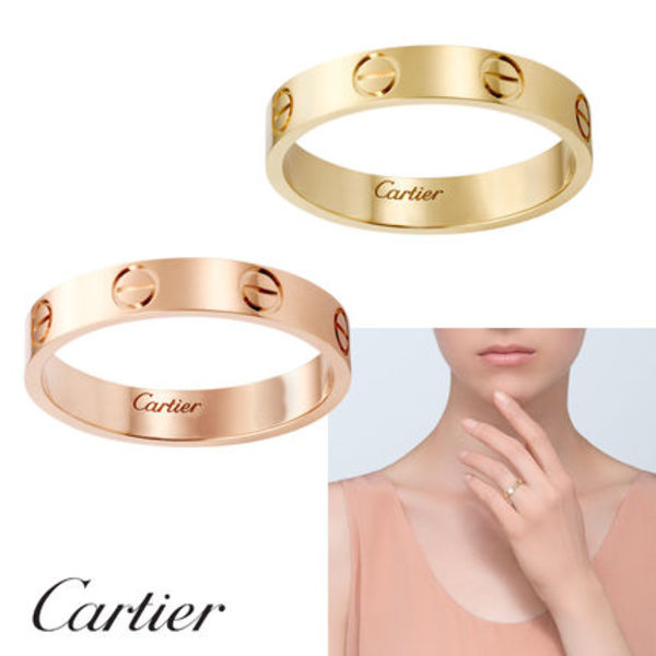 国内発関税込 2018AW Cartier Love wedding band (YG/PG)