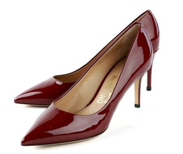Salvatore Ferragamo◆Wine Red レディース パンプス【9】