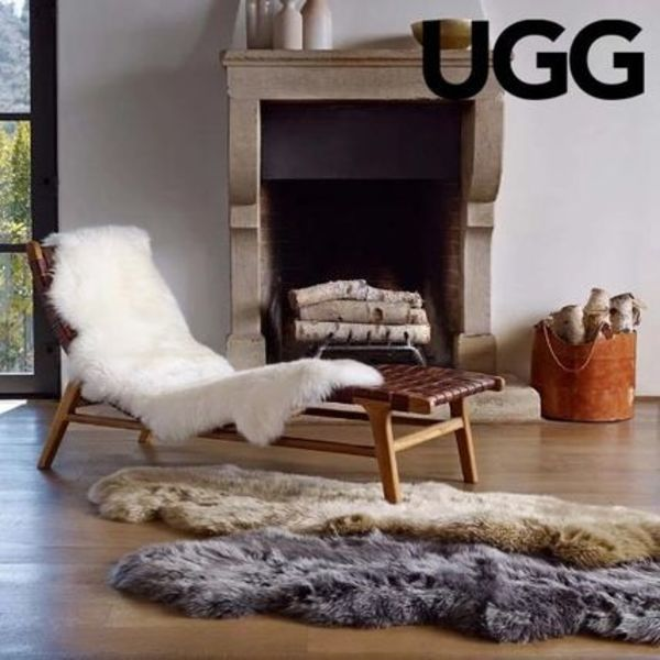 ◇UGG◇ふわふわのラグ Double Sheepskin Throw 約60×180cm
