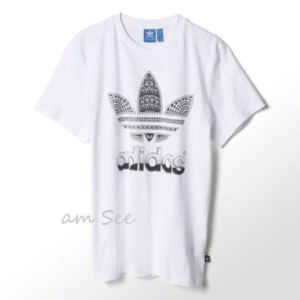 【日本未入荷♪】adidas Originals fill-in Graphic Tシャツ 白
