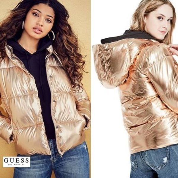 【GUESS】新作★送料込み★メタリックパフコート