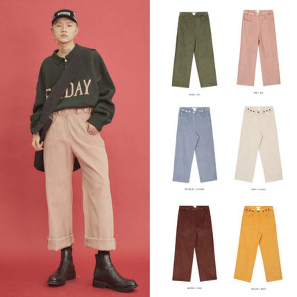 【OPEN THE DOOR】corduroy straight パンツ (6 color) - UNISEX