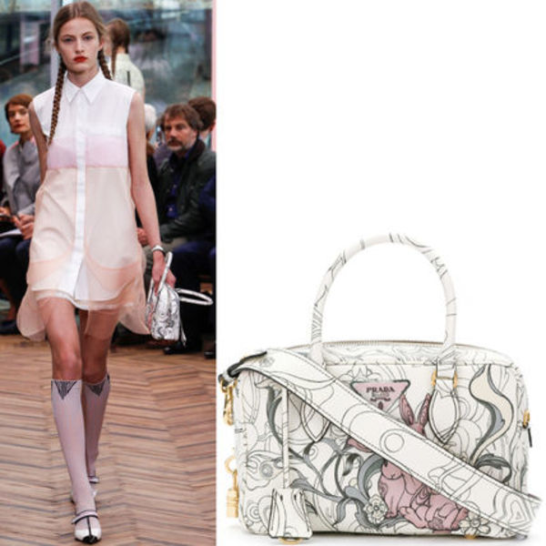 PR876 LOOK5 RABBIT PRINT HANDBAG