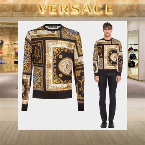 【18SS NEW】VERSACE_men / SIGNATURE PRINTシルクセーター