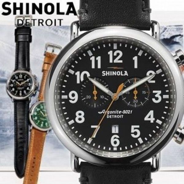 送料込!!SHINOLA★The Runwell Chrono Leather ★メンズ腕時計