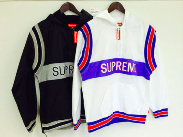 2015SS 即発 追尾/関税込み☆Supreme team pullover ナイロンJK