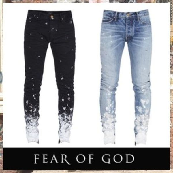 5th 新作!!【FEAR OF GOD】ペイント スキニージーンズ /2カラー
