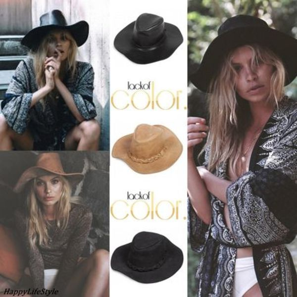 Fedora Leather Hat 3タイプ Suede/ Tan/ Onyx ★Lack of Color