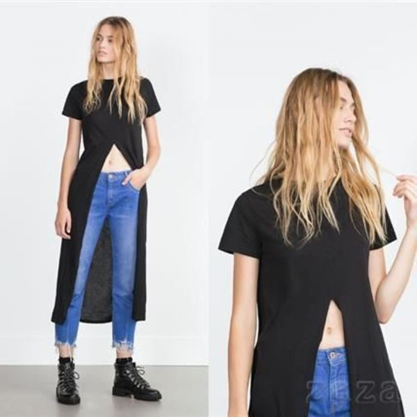 ★ZARA★ザラ  T-SHIRT WITH FRONT VENT