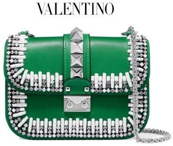 ★関税負担★VALENTINO★LOCK TWO-TONE SHOULDER BAG★EMS発送