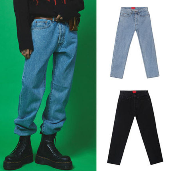 ★ OPEN THE DOOR★vintage washing denim pants (2 color)