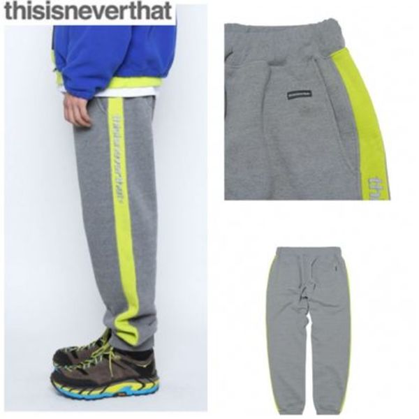 新作★thisisneverthat★Stripe SP-Logo Sweatpant Charcoal