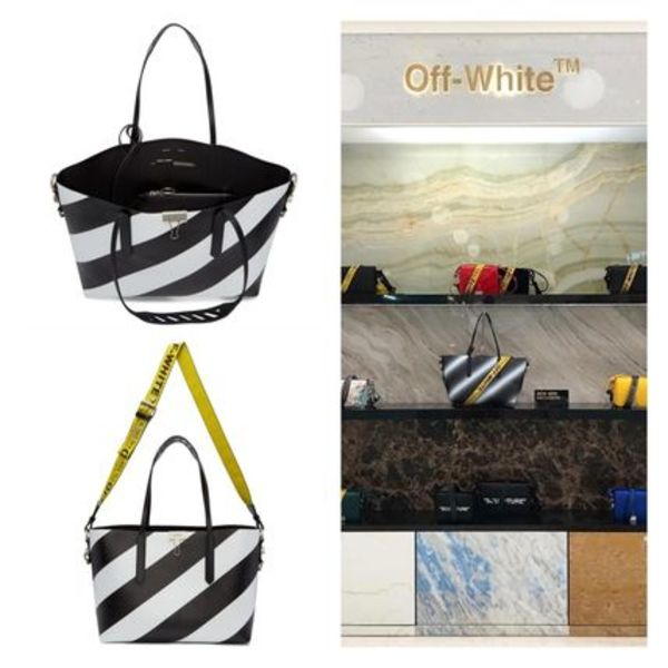!OFF- WHITE All Over Diagonal Tote