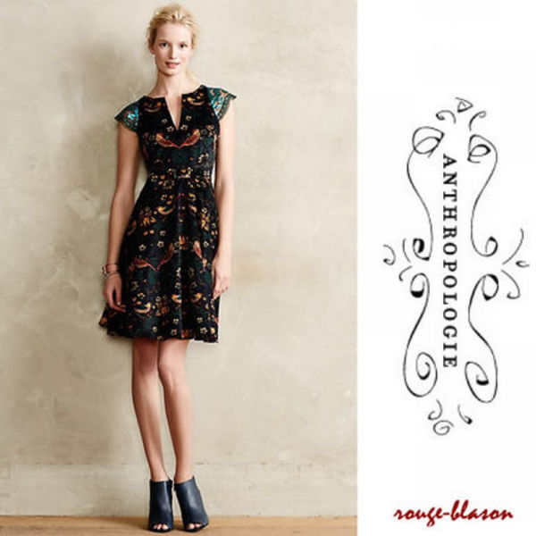 【国内発送】Anthropologie Larksong Corduroy Dress ボタニカル