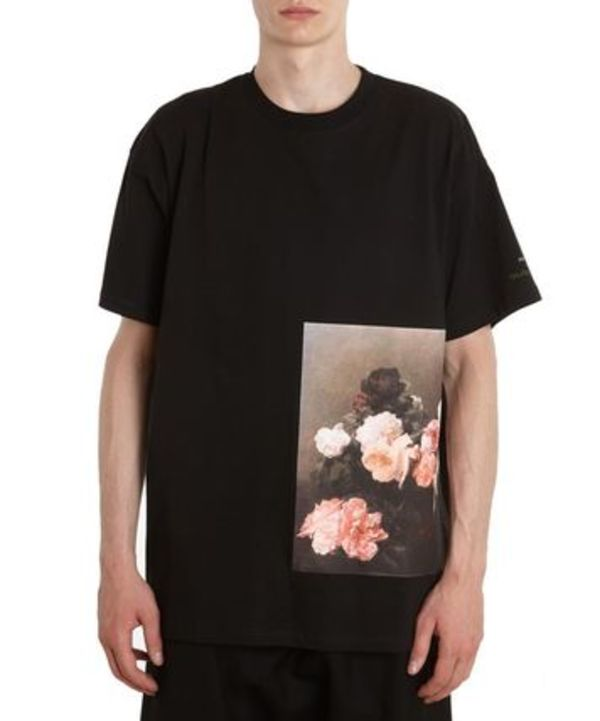 SS18 ラフシモンズ FLOWERS COTTON T-SHIRT