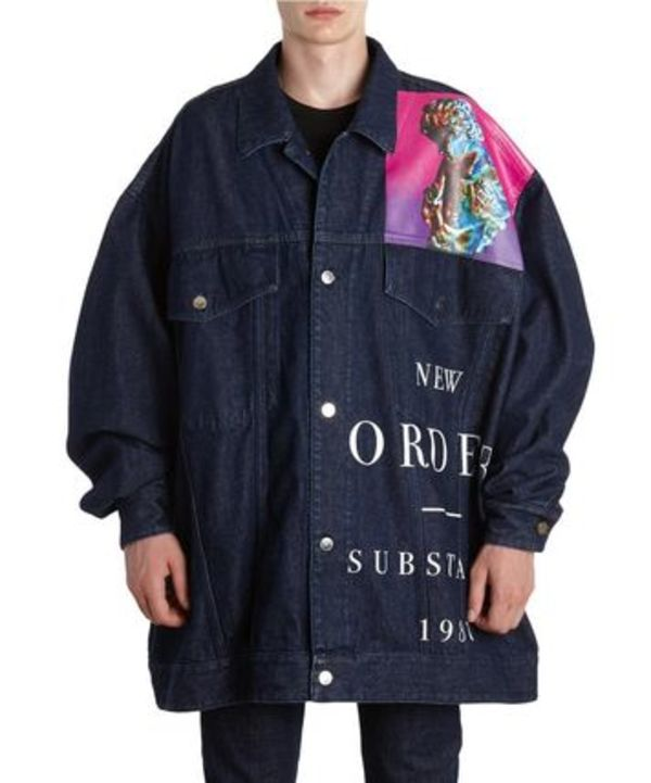 SS18 ラフシモンズ OVERSIZED PRINT COTTON DENIM JACKET