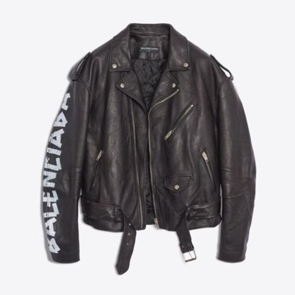 【送料関税込】BLENCIAGA PAINTED BIKER JACKET