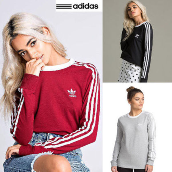 限定!!◆adidas◆Originals 3-Stripes Long Sleeveスウェット