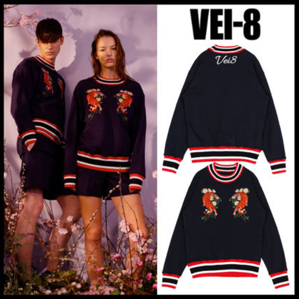 ★韓国の人気★VEI-8★TIGER SWEATSHIRT - NAVY 1色★UNISEX