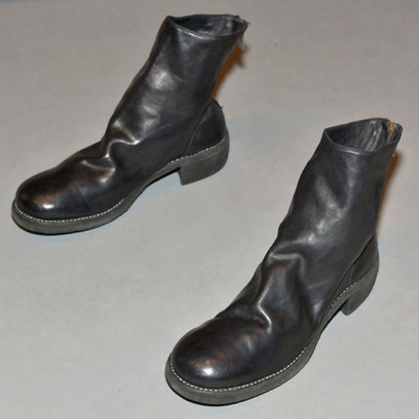 GUIDI 796Z HORSE LEATHER BACK-ZIP BOOTS BLACK