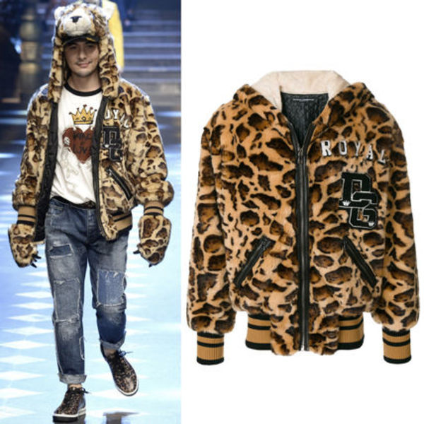 17-18AW DGM013 LOOK47 WOLF FAUX FUR JACKET