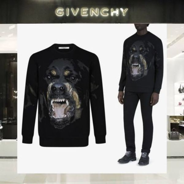 【18SS NEW】 GIVENCHY_men /ROTTWEILERスウェットシャツBK