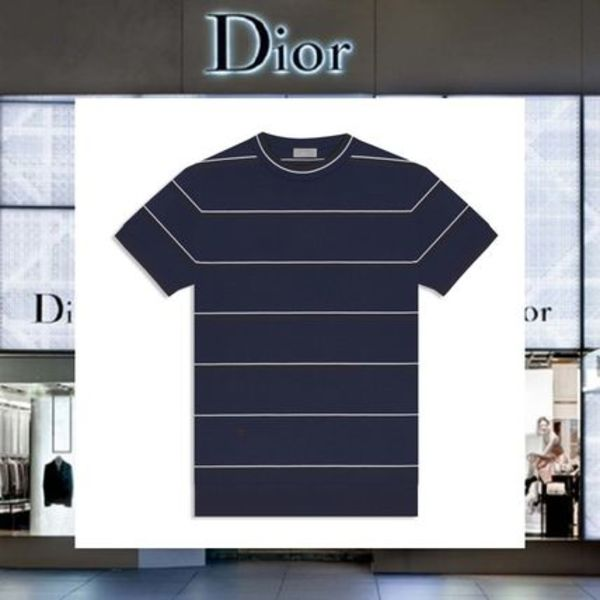 【17AW NEW】 Christian Dior_men /ボーダーウールTシャツ