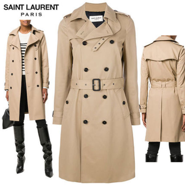 【正規品保証】SAINT LAURENT★18春夏★TRENCH COAT_BEIGE