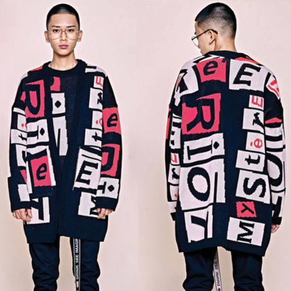 HEICH BLADE★K-POPスター愛用 RIOT GRAPHIC JACQUARD CARDIGAN