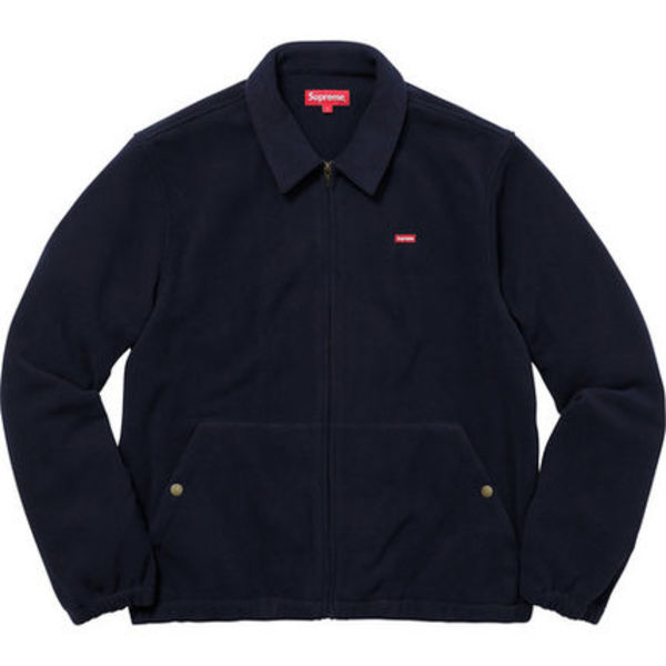 送料込み★Supreme Polartec Harrington Jacket Navy