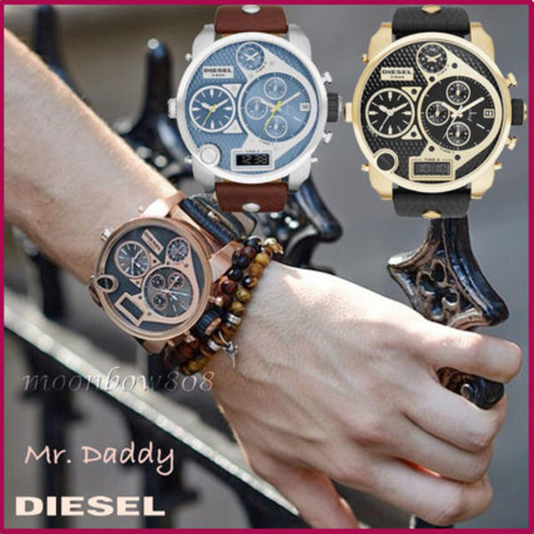 【定番人気】DIESEL Mr. Daddy ★Super MEGA Watch 選べる3色