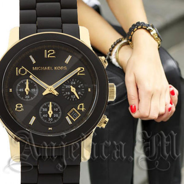 ★安心ヤマト便★Michael Kors Black Polyurethane Watch MK5191