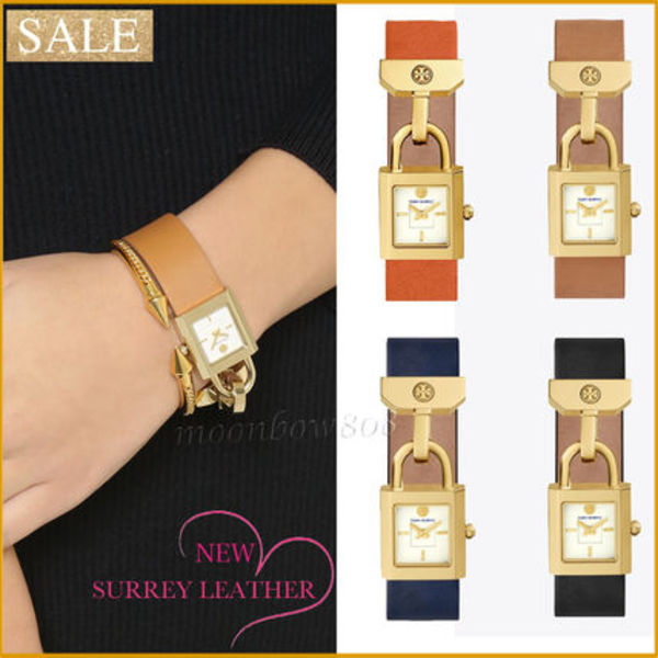 【短期破格セール】Tory Burch SURREY LEATHER  WATCH 4タイプ