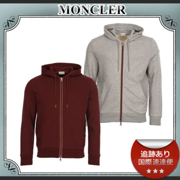 18AW/送料込≪Moncler≫ フード付き ジップアップパーカー